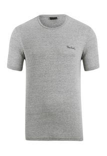Camiseta Mesclada - Masculino-Cinza