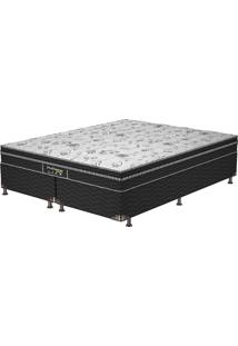 Cama Box Queen Sleep Black - Probel - Branco / Preto