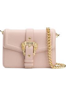 Versace Jeans Couture Decorative Buckle Shoulder Bag - Rosa