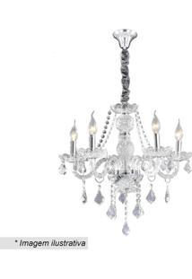 Lustre Maria Antã´Nia- Cristal & Inox- 68X56X52Cmhevvy