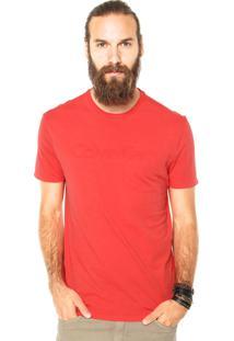 Camiseta Calvin Klein Jeans Relevo Vermelha
