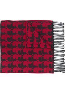 Karl Lagerfeld Echarpe Com Estampa Gráfica - Vermelho