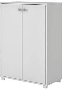 Armário Multiuso 2 Portas E 2 Prateleiras Branco Bam 04-06