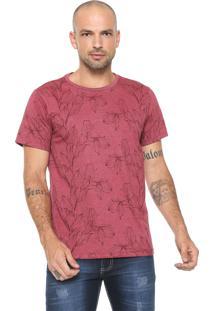 Camiseta Fiveblu Estampada Vermelha