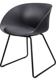 Cadeira Dandy Preta Com Base Preta - 58165 - Sun House