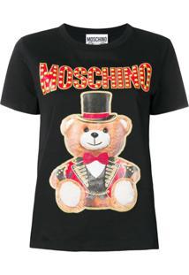 Moschino Blusa 'Toy Bear' - Preto