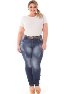 719d52566 ... Calça Confidencial Extra Plus Size Skinny Cintura Alta Feminina -  Feminino
