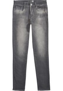 Calça Jeans Masculina Skinny Em Denim Moletom