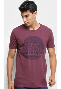 Camiseta Calvin Klein Free Ride Masculina - Masculino-Bordô