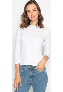 Blusa Lisa Com Bordado - Branca - Lanã§A Perfumelanã§A Perfume