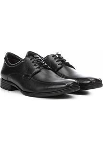 Sapato Couro Democrata Conforto Alpha Flex Masculino - Masculino-Preto