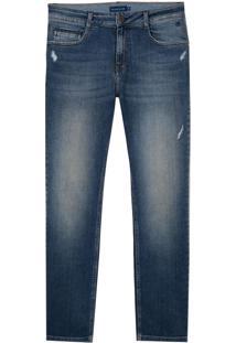 Calça Dudalina Blue Denim Vintage Jeans Masculina (Jeans Medio, 38)