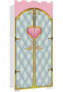 Guarda Roupa Castelo Pura Magia Premium 02 Portas Branco Rosa