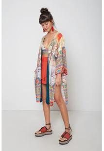 Kimono Est Jardim Oriental Color - Oh, Boy! - Feminino