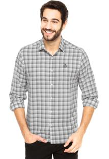Camisa Forum Xadrez Cinza
