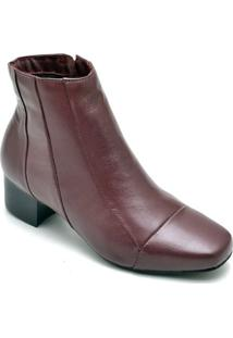 Bota Dr Shoes Casual Feminino - Feminino-Bordô