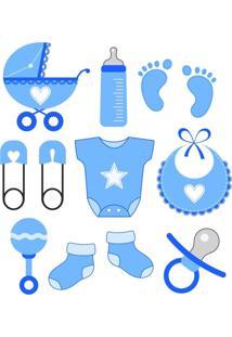 Adesivo De Parede Quartinhos Baby Azul