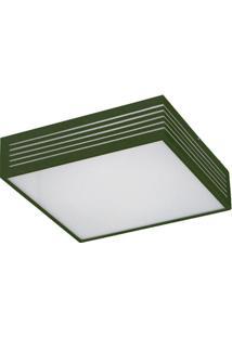 Plafon Pequeno Com Rasgo Maior 6146 2 Lâmpadas Verde Pantoja&Carmona