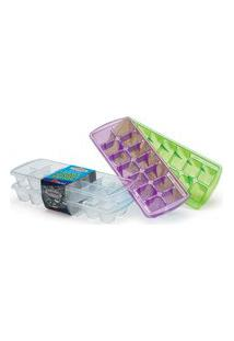 Forma De Gelo Firenze Cubo Plastico Incolor - 2 Peças