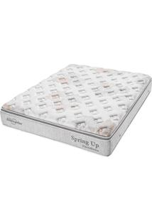Colchão King Pillow Top Spring Up Molas Ensacadas - Americanflex - Branco / Cinza