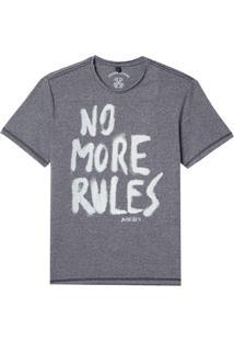 Camiseta John John Rx No More Rules Malha Cinza Masculina (Mescla Claro, P)