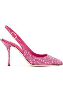 Dolce & Gabbana Scarpin Com Aplicações - Rosa