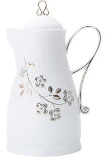 Garrafa Térmica Flores- Branca & Dourada- 650Mlwolff