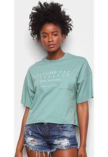 Camiseta Colcci Diferença Eco Active Feminina - Feminino-Verde