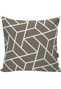 Capa De Almofada Geometric- Bege Escuro & Branca- 45Stm Home