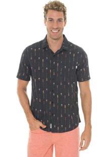 Camisa Timberland Rowing Masculina - Masculino-Preto