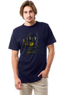 Camiseta Liv Geek Bat Minion Azul Marinho