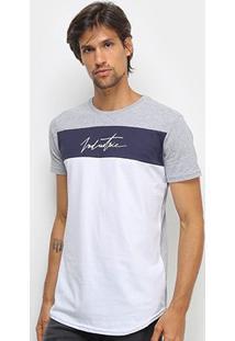 Camiseta Industrie Tricolor Masculina - Masculino-Mescla