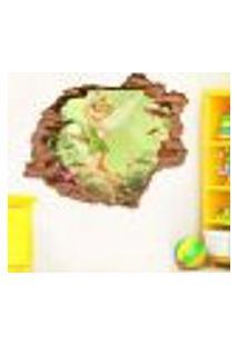 Adesivo De Parede Buraco Falso 3D Infantil Sininho - P 45X55Cm