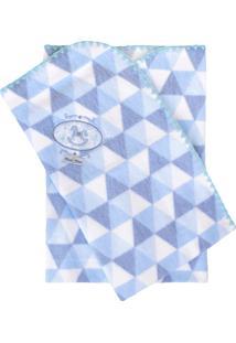 Cobertor Minasrey Bordado Com Caixa Muito Mimo Azul - Kanui