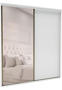Guarda-Roupa Casal Com Espelho Inovatto 2 Pt 3 Gv Branco