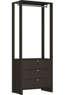 Guarda-Roupa Closet Modulado Yes 3 Gv Grafite