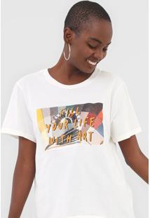 Camiseta Cantão Fill Your Life Off-White