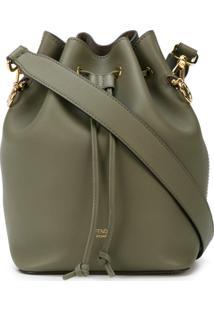 Fendi Drawstring Bucket Bag - Green
