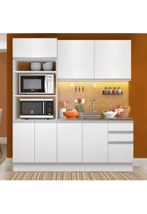 Cozinha Compacta Madesa Laura 7 Portas 3 Gavetas (Sem Tampo E Pia) Branco - Branco - Dafiti