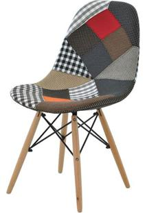 Cadeira Eames Eiffel Patchwork Base Madeira - 29777 - Sun House