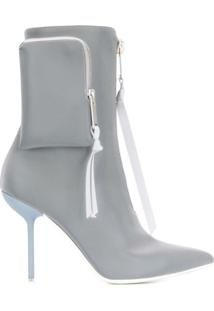Unravel Project Ankle Boot Bico Fino Com Salto Agulha - Azul