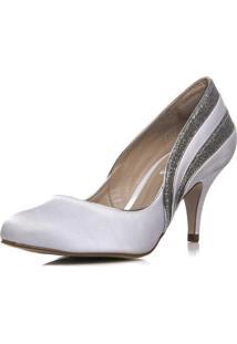Sapato Noiva Cetim Salto Médio - Ri5725 Branco