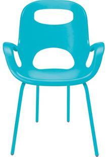 Cadeira Em Polipropileno Com Braço Oh Chair Turquesa