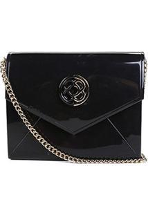 Bolsa Petite Jolie Mini Bag Flap Express Feminina - Feminino-Preto