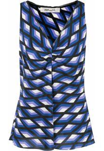 Dvf Diane Von Furstenberg Regata Estampada - Azul