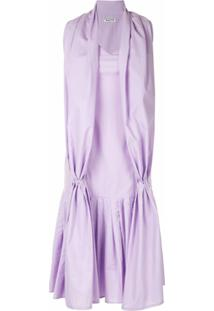 Aalto Vestido Com Detalhe De Pregas - Roxo
