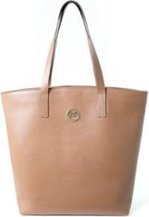 Bolsa Shopper Couro Mariart 5230 Feminina - Feminino-Caramelo