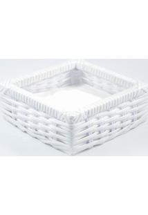 Porta Guardanapo Tradicional Fibra Sintética - Branco - Kanui