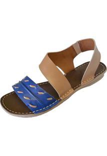 2cd8ab40b Sandália Azul Elastico feminina | Shoelover