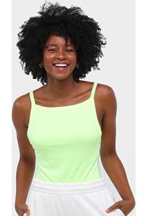 Body Roxy Fluorescente Alcinha - Feminino-Verde Limão